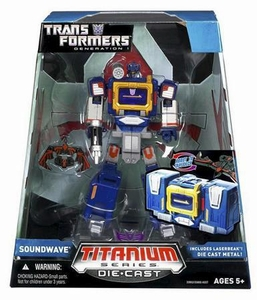 Transformers Hasbro Titanium Cybertron Heroes 6 Inch Diecast Figure Soundwave [Generation 1]