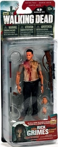 McFarlane Toys Walking Dead TV Exclusive Action Figure Deputy Rick Grimes {Bloody} [Interchangeable Hands & Weapons!] Hot!
