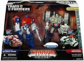 Transformers Hasbro Titanium Cybertron Heroes 6 Inch Diecast Figure 2-Pack Optimus Prime & Megatron [War Within]