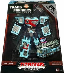 Transformers Universe Hasbro Titanium Series Exclusive Die Cast Figure Hot Zone