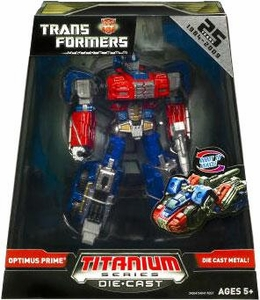 Transformers Universe Hasbro Titanium Series Exclusive Die Cast Figure Optimus Prime