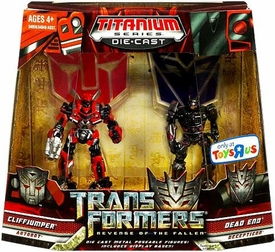 Transformers 2: Revenge of the Fallen Exclusive Titanium Series Die Cast Figure 2-Pack Cliffjumper & Dead End