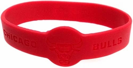Official NBA Team Rubber Bracelet Chicago Bulls [Red]