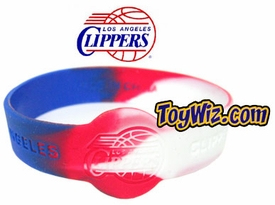 Official NBA Team Rubber Bracelet Los Angeles Clippers Marble Color