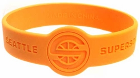Official NBA Team Rubber Bracelet Seattle Supersonics [Yellow]