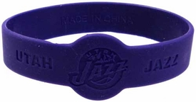 Official NBA Team Rubber Bracelet Utah Jazz  [Purple]