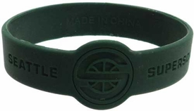 Official NBA Team Rubber Bracelet Seattle Supersonics [Green]