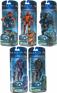 Halo 4 McFarlane Toys Series 2 Set of 5 Action Figures [Master Chief, Elite Ranger, Storm Jackal, Spartan Scout & Spartan CIO]