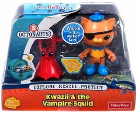 Fisher Price Octonauts Figure & Creature Kwazii & The Vampire Squid