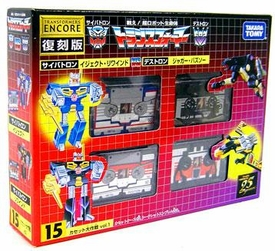 Transformers Japanese Tomy Takara Re-Issue Renewal Encore #15 Cassette Set [Eject, Rewind, Ravage and Laserbeak]