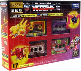 Transformers Japanese Tomy Takara Re-Issue Renewal Encore #17 Cassette Set [Ratbat, Slugfest, Ramhorn & Steeljaw]