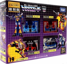 Transformers Japanese Tomy Takara Re-Issue Renewal Encore #19 Cassette Set [Rumble, Frenzy, Overkill & Laserbeak]