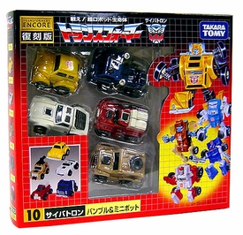 Transformers Japanese Tomy Takara Re-Issue Renewal Encore #10 Minibot 5-Pack  [Bumblebee, Outback, Pipes, Swerve & Tailgate]