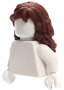 LEGO LOOSE Hair Long Reddish Brown Wavy Hair