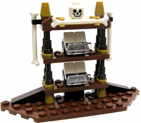 LEGO Pirates of the Caribbean LOOSE Accessory Gothic Shelf with Bones & Skull