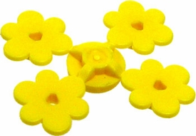 LEGO Terrain LOOSE Plant Sprue of Four Yellow Flowers