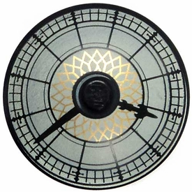 LEGO City LOOSE Accessory Black Dish 4 x4 Town Hall Clock