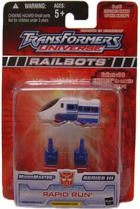 Transformers Universe Micromasters Series 3 Railbots Figure Rapid Run