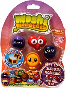 Moshi Monsters Moshlings Series 2 Mini Figure 5-Pack [Includes 1 Virtual Prize Code!]