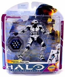 Halo 3 McFarlane Toys Series 6 [MEDAL EDITION] Action Figure WHITE Spartan Soldier Recon