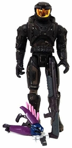 Halo Exclusive LOOSE Action Figure Battle Damaged Black Spartan