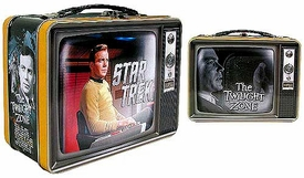 Bif Bang Pow! Star Trek / The Twilight Zone Exclusive Monitor Mates Tin Tote Set The Captain & The Passenger