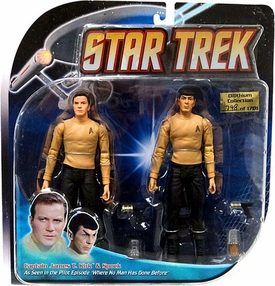 Diamond Select Toys Star Trek The Original Series Action Figure 2-Pack Pilot Episode Kirk & Spock 2-Pack