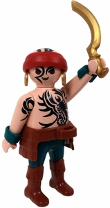 Playmobil Fi?ures Series 3 LOOSE Mini Figure Tattooed Warrior