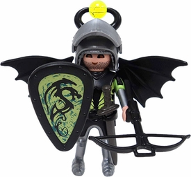 Playmobil Fi?ures Series 1 LOOSE Mini Figure Black Dragon Knight
