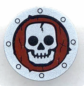LEGO Castle LOOSE Shield Small Round Skull Shield