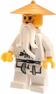 LEGO Ninjago LOOSE Mini Figure Sensei Wu in White Robes & Gold Hat