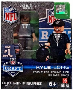 OYO Football NFL Draft First Round Picks Building Brick Minifigure Kyle Long [Chicago Bears] #20 Draft Pick