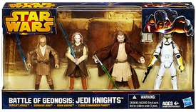 Star Wars 2013 Exclusive Action Figure 4-Pack Battle of Geonosis: Jedi Knights [Sephjet Josall, Sarrissa Jeng, Roan Shryne & Clone Commander Ponds]