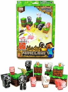 Minecraft Papercraft 30 Piece Set Animal Mobs [30 Pieces]