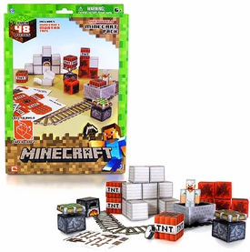 Minecraft Papercraft Minecart Set [48 Pieces]
