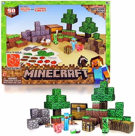 Minecraft Papercraft Overworld Deluxe Set [90 Pieces] Hot!