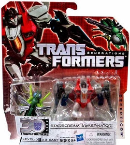 Transformers Generations Legends Action Figure 2-Pack Starscream & Waspinator