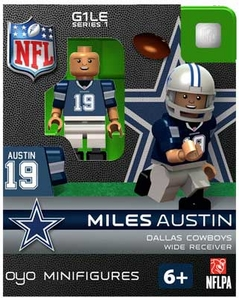 OYO Football NFL Building Brick Minifigure Miles Austin [Dallas Cowboys]