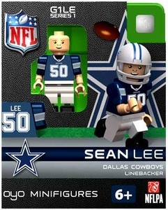 OYO Football NFL Building Brick Minifigure Sean Lee [Dallas Cowboys]