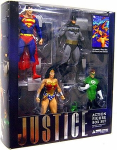 DC Direct Alex Ross Justice Action Figure Boxed Set