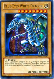 YuGiOh Saga of Blue-Eyes White Dragon Structure Deck Single Card Ultra Rare SDBE-EN001 Blue-Eyes White Dragon Hot!