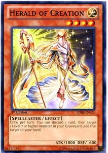 YuGiOh Saga of Blue-Eyes White Dragon Structure Deck Single Card Common SDBE-EN015 Herald of Creation