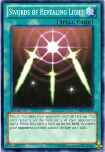 YuGiOh Saga of Blue-Eyes White Dragon Structure Deck Single Card Common SDBE-EN031 Swords of Revealing Light
