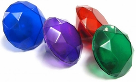 Sonic the Hedgehog 1.5 Inch LOOSE Accessory Set of 4 Light-Up Chaos Emeralds [Red, Blue, Green & Purple]