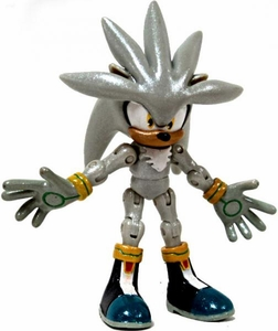 Sonic 20th Anniversary 3.5 Inch LOOSE Action Figure Shiny Metallic Silver [Exclusive Paint Job!]
