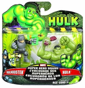 Marvel Superhero Squad Incredible Hulk Movie Series 1 Mini 3 Inch Figure 2-Pack Hulk & Hulk Buster