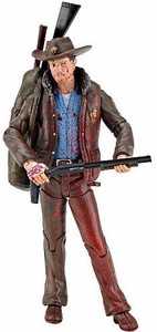 McFarlane Toys Walking Dead COMIC Series 1 Loose Exclusive Action Figure Officer Rick Grimes Blood Splattered Variant