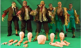 Create Your Own Zombie 1/9 Scale Action Figure Customizing Set [3 Figures] Pre-Order ships August