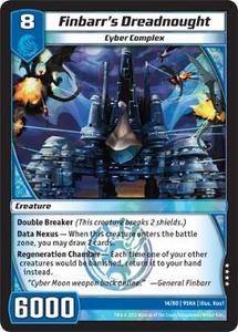 Kaijudo Shattered Alliances Single Card Very Rare #14 Finbarr's Dreadnought