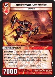 Kaijudo Shattered Alliances Single Card Rare #26 Blazetrail Gilaflame